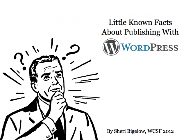 Little Known Facts About Publishing with WordPress